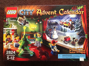 2010 Lego  city advent  calendar complete (opened)c