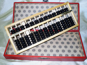 wooden ABACUS in lovely box