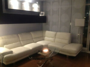 Off White Canapé Sectionnel - Sectional Couch Blanc Ivoire