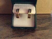 18ct diamond earrings for sale