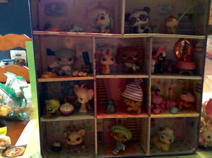 Littlest pet shop boite en metal collection lot
