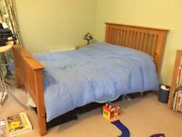 King size bed frame and mattress solid wood