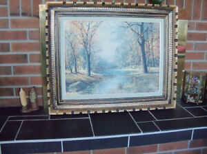 "ROBERT WOOD ""October Morn"" Lithograph  40 X 29"