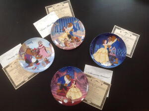 Beauty &a The Beast Bradford Exchange Collector Plates and Holde