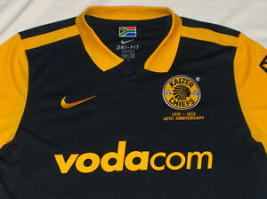 Perfect Nike Authentic Soccer Kaizer Chiefs 40th Anni. Jersey