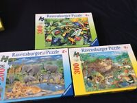 Three ravensburger jigsaw puzzle is age 8 to 9