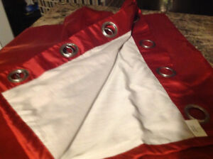 Grommet style  lined curtains