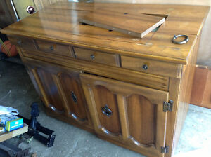 Solid wood sewing machine table FREE