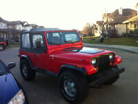 1993 Jeep TJ Red Convertible