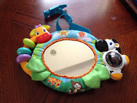 Bright Starts crib mirror singing safari