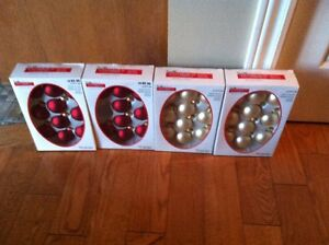 4 boxes of Solid Glass Christmas Balls