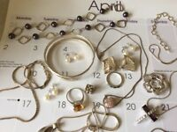 Job lot solid silver hallmarked jewellery
