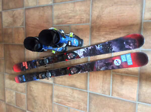 Twin Tip 138 cm skis and boots