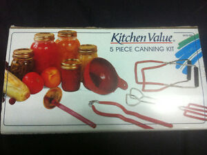 5 piece canning kit - Kitchen Value for $20, need gone asap