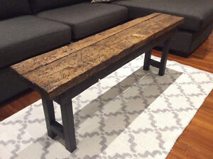 Rustic Reclaimed Wood Bench