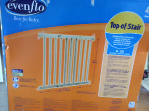 (Two) Evenflo top of stairs safety gates for kids