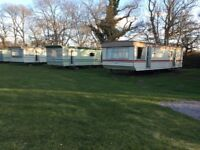 Caravans for let on a quiet caravan park near Forres in Morayshire
