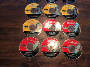 Lot de 12 dvd pour apprendre l'espagnol et l'italien