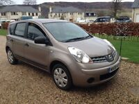 Nissan Note Visia 1.4 mini mpv only being sold due to ill health.