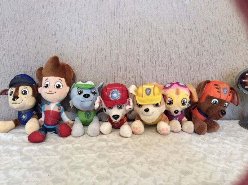 Paw Patrol plush collection cuddly toysin Alloa, ClackmannanshireGumtree - Paw Patrol cuddly toy bundle excellent condition grab a bargain...cost a small fortune £15 collection Alloa