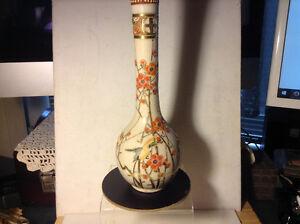 Japanese Antique Kutani Porcelain Vases