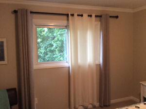 Cream coloured Drapes from Bouclair