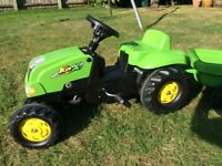 Outdoor Toy Roly Tractor & Trailer