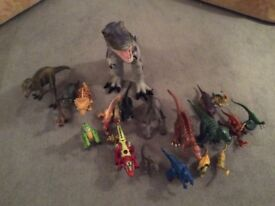 Herd of Toy Dinosaurs
