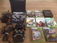 Xbox 360S 4GB Console, Controllers, Headset, Games - GTAV, Halo, Forza Horizon and more