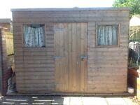 2 Wooden sheds