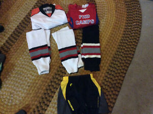 Hockey jerseys and socks