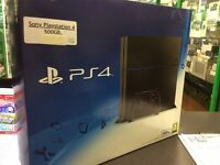 Sony PlayStation 4 (500GB - Black - Boxed - Mint Condition w/ One Controller ) Black OPS 3