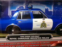 New Die Cast 1986 Dodge Diplomat Royal Canadian Mounted Police.
