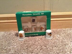 Collectible glass thimble set (6) of dogs. Kitchener / Waterloo Kitchener Area image 2