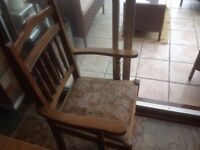 4 dining chairs in light oak