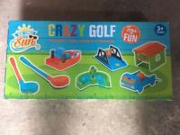 Crazy golf kids set brand new