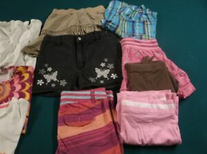 Box of Girl's size 10/12 spring and summer clothes