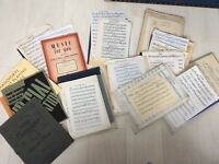 Vintage sheet music (printed & handwritten) Huge job lot
