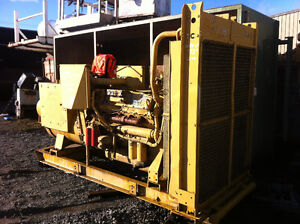 500KW 600volt Cat 3412 Generator complete unit can be seen runni