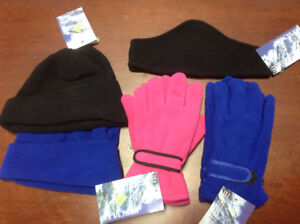 Brand New Fleece Winter Gloves and Hats