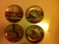 4 Knowles Collector Plates