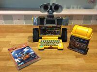 Children's Pixar Wall-e robot with computer, bin and wall-e DVD
