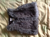 Faux fur vest for girl 3T