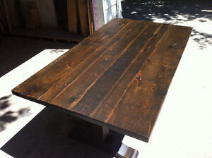 NEW RUSTIC PINE HARVEST TABLE FOR SALE