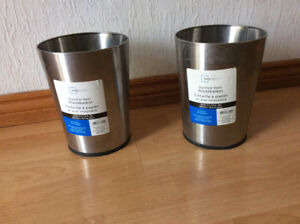 STAINLESS STEEL GARBAGE CANS- MAINSTAY