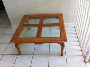 Roxton Solid Maple Square Coffee Table + Matching End Table