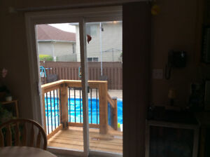 Verticle Blinds for Patio Doors Like new. All hardware included
