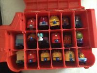 FULL CHUGGINGTON TRAIN CARRY CASE WITH TRAINS