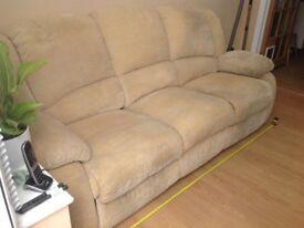 Lazy boy 3 seater reclining sofa