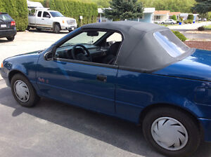 1991 Pontiac Firefly LE Blue Convertible